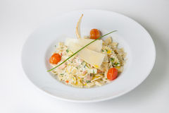 Pasta dish with cheese Stock Photos