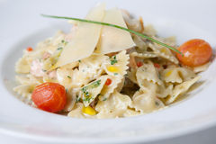 Pasta dish with cheese Stock Photography