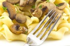 Pasta Dish Gigli Con Funghi Stock Photo