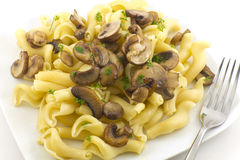 Pasta Dish Gigli Con Funghi Royalty Free Stock Images