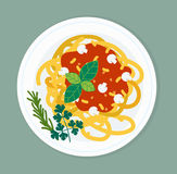 Pasta dish  illustration. Stock Image