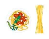 Pasta dish  illustration. Royalty Free Stock Photos