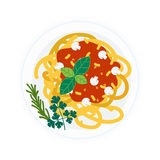 Pasta dish  illustration. Stock Images