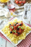 Pasta dish Royalty Free Stock Photo