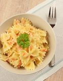 Farfalle from above Royalty Free Stock Image