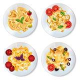 Pasta Dishes Set Royalty Free Stock Image