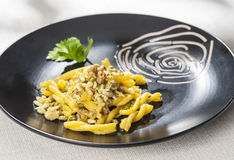 Pasta with dried fruit Royalty Free Stock Photography