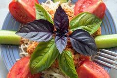 Pasta e Bolognese Fotografia Stock