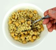 Pasta e Ceci (Pasta with Chickpeas) Stock Images