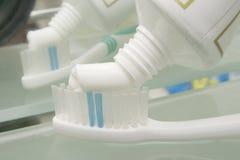 Pasta e escova de dente Foto de Stock Royalty Free