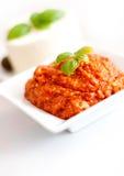 Pasta e manjericão de tomate Imagem de Stock