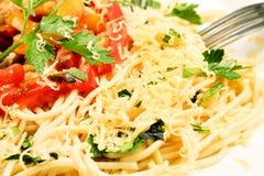 Pasta e pomodori Fotografia Stock