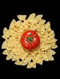 Pasta e pomodoro Immagine Stock