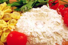 Pasta e salsa fresche Immagine Stock