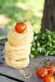 Pasta e verdure grezze Fotografia Stock Libera da Diritti