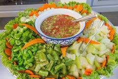 Pasta e vetgetables del peperoncino rosso Fotografie Stock Libere da Diritti