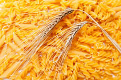 Pasta and ear of wheat Stock Photo
