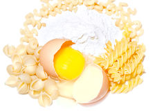 Pasta, Egg, Flour Stock Photo