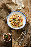 Pasta with eggplants Stock Photography