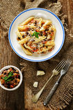 Pasta with eggplants Royalty Free Stock Photography