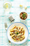 Pasta with eggplants Royalty Free Stock Image