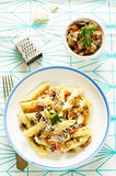 Pasta with eggplants Royalty Free Stock Images