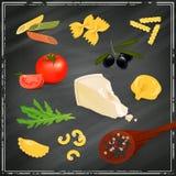 Pasta Elements Stock Photo