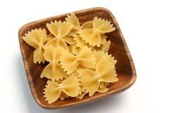 pasta för 01 farfalle Arkivbild