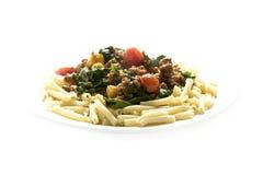 pasta för 3 maträtt arkivfoton