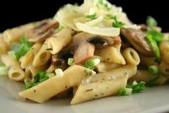 pasta för 6 champinjon Arkivfoto