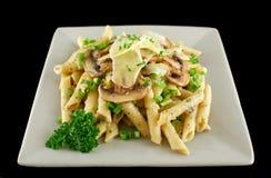 pasta för 7 champinjon Arkivfoton
