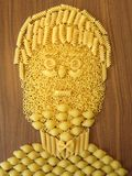 Pasta face Royalty Free Stock Images