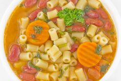 Pasta Fagioli Royalty Free Stock Photos