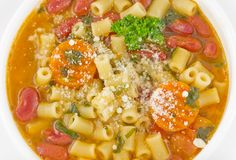Pasta Fagioli Stock Photo