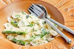 Pasta farfalle Stock Image