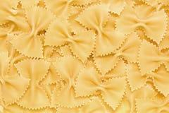 Pasta farfalle Stock Images