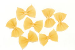 Pasta farfalle royalty free stock photography