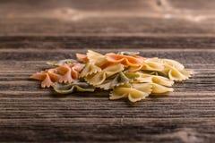 Pasta farfalle Stock Photos