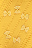 Pasta and Farfalle noodles Royalty Free Stock Photos