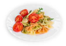 Pasta farfalle with tomatoes. Stock Images