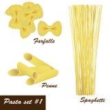 Pasta fastställd #1 Royaltyfria Foton