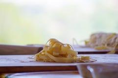 Pasta fatta nella classe di cottura Immagine Stock