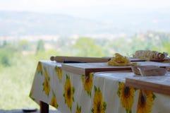 Pasta fatta nella classe di cottura Fotografie Stock