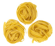 Pasta fettuccine nest Royalty Free Stock Images