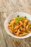 Pasta with fish ragout Stock Photos