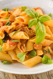 Pasta with fish ragout Stock Image