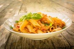 Pasta with fish ragout Royalty Free Stock Photos