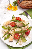 Pasta with fish and vegetables Stock Image