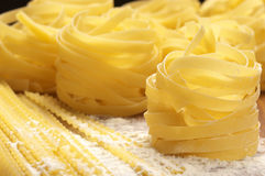 Pasta in flour Royalty Free Stock Photography
