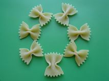 Pasta flower stock photos
